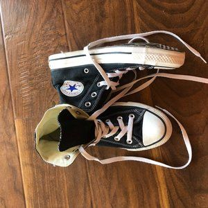 converse high top lace up sneakers